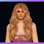 Fluffy pinned-back long hairstyle for MP Female 1.0