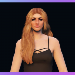 Messy pinned-back long hairstyle for MP Female 1.1