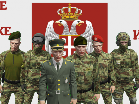 Serbian Army Uniform for MP Male 1.2 FINAL