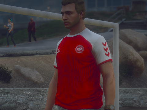 Christian Eriksen Denmark Euro 2020 Home Kit | Football Jersey [FiveM Ready] 1.0