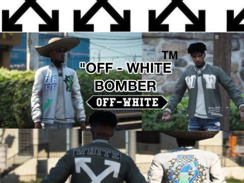 Custom Off White Bomber Jacket for MP Male 1.1