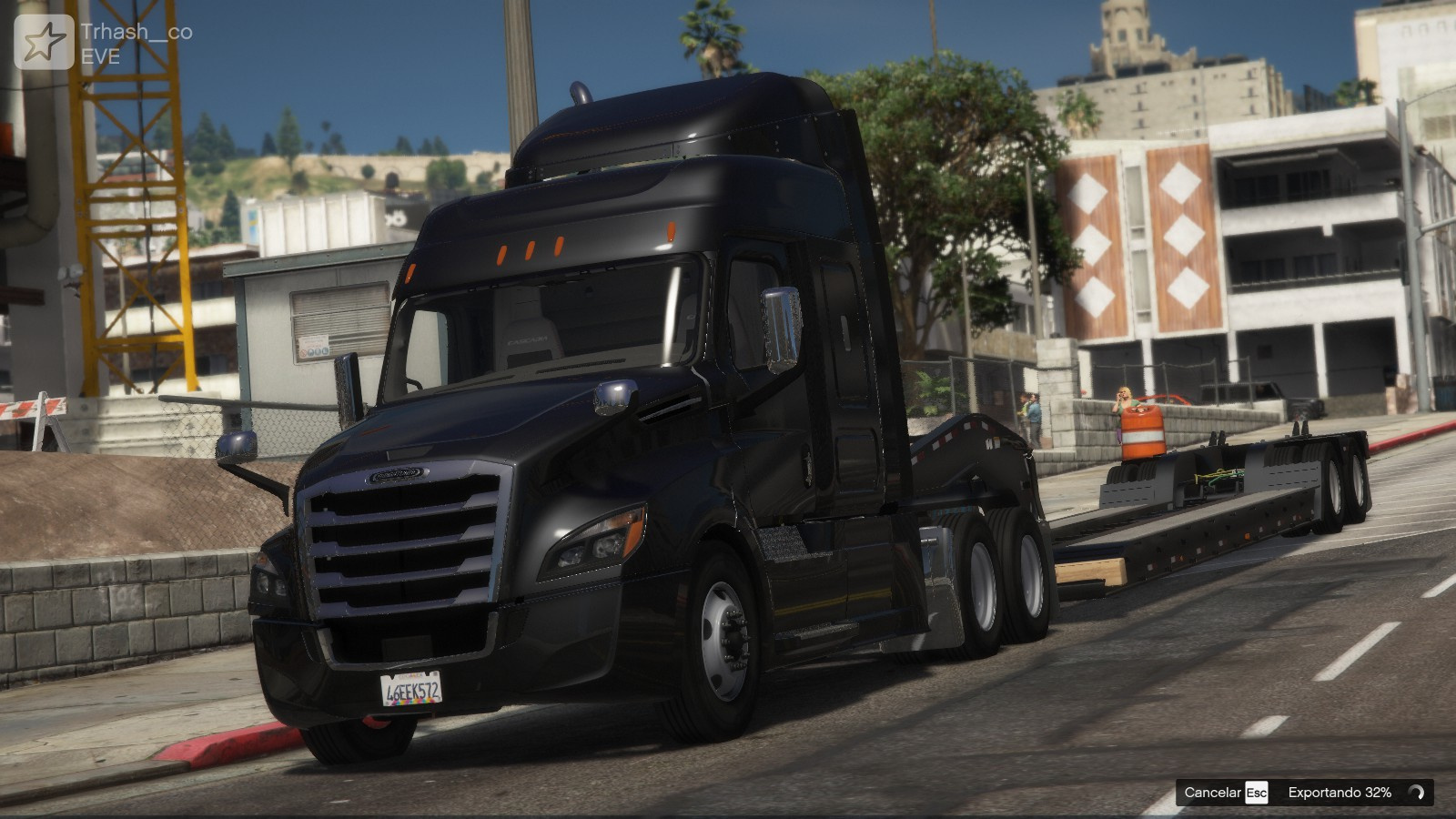 Freightliner Cascadia 2019 + Lowboy [Replace] 1.0