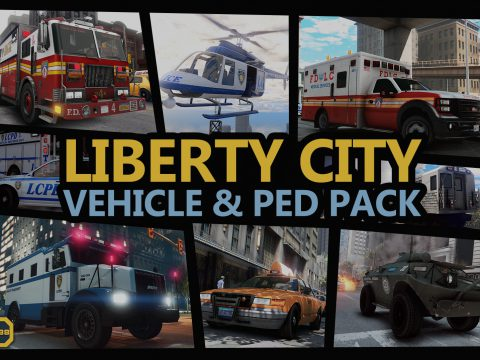 Liberty City Vehicle & Ped Pack (FDLC, LCPD and more) [Add-On | Liveries | Sounds | Custom Shards] v1.2.3