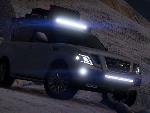 Nissan Patrol Platinum 2014 off road [Add-On | Extras]