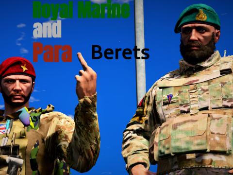 Para and royal marine berets (Retexture)