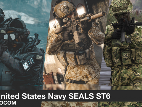 US Navy Seals, SOCOM Diver (Addon Ped/Replace Ped)(5 Camos) 1.0