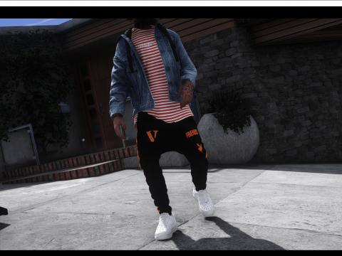 VLONE sagged jeans mp/sp male, franklin