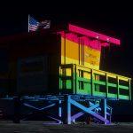 Vespucci Beach Pride Lifeguard Tower