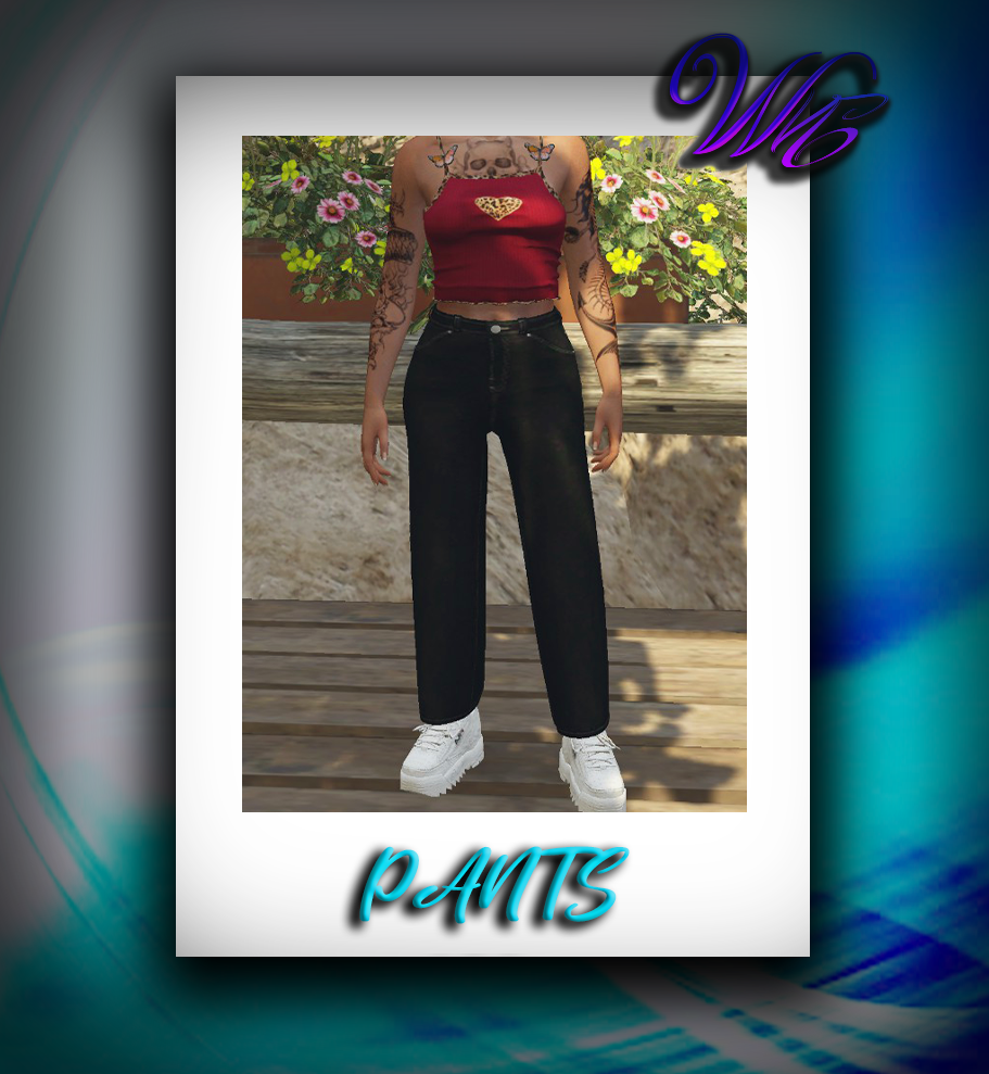 Wide Jeans for MP Female 1.0