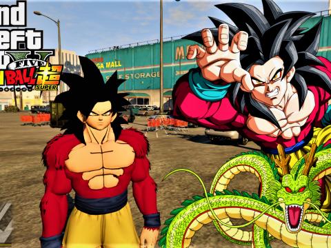 Goku Super Saiyan 4 /SSJ4 Goku From Dragon Ball [Add-On Ped] 1.0