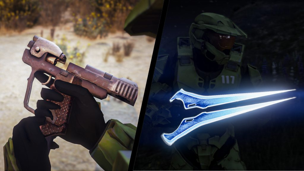 Halo 4 Energy Sword & Halo CE Magnum Weapon Pack [Animated] 1.0