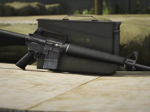 Realistic and Abused M16A1 Skin 1.0