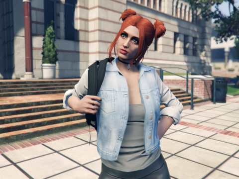 Recolored denim jacket for MP Female 1.1