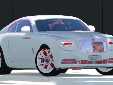 Rolls Royce - wraith 19 Red N White N Black custom Texture 1.01