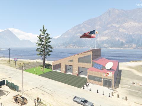 Sandy Shores Fire Station | 3 Bays | Single Story | FiveM Ready | Menyoo | 1.0