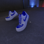 Air Force 1 Blue Bandana Customs for Franklin 1.0