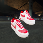 Air Force 1 Red Bandana Customs For Franklin 1.0