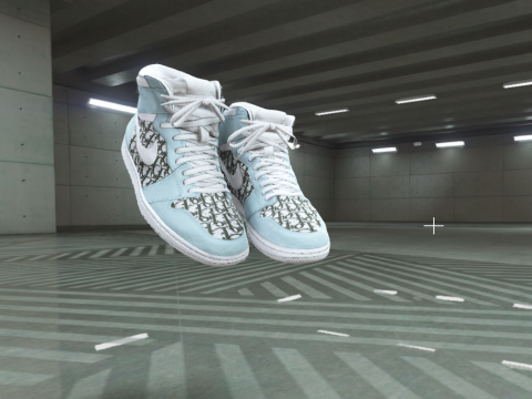 Dior x Nike Custom Air Jordan 1s for Franklin 1.0