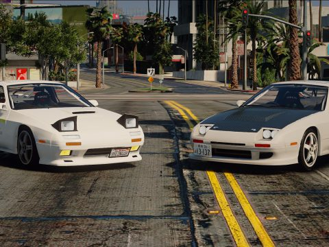 Initial D style tuning parts for 1990 Mazda SAVANNA RX-7 ∞ III (FC3S) 1.0