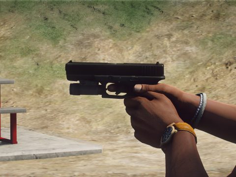 PAYDAY 2 Glock 17 Texture With Night Sights - gun model by metroidguy 1.0
