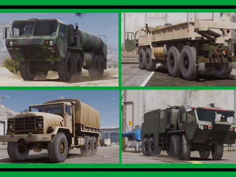 US Vehicles Military: Transport & Support [Add-On] Pack 1.0