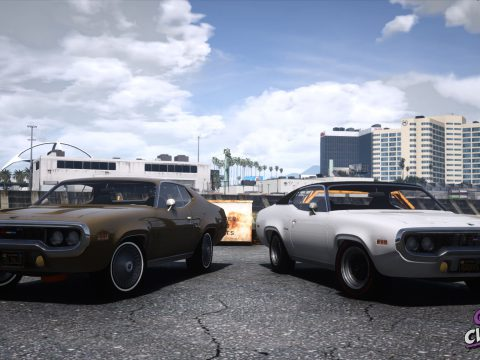 1971 Plymouth Satellite Sebring [Add-On | LODs | Extras ] 1.1